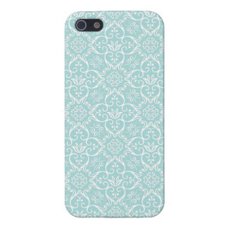 Tiffany Blue & White Damask Case iPhone 5/5S Case