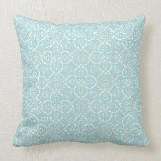 Tiffany Blue & White Damask Pillow