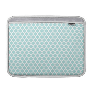 Tiffany Blue & White Moroccan Macbook Air Sleeve