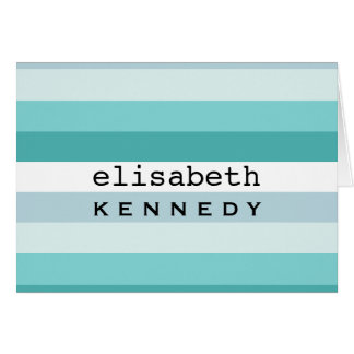 Tiffany Box Aqua Blue Stripes Card