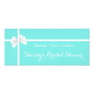 Tiffany Bridal Shower Box with Bow Invitation