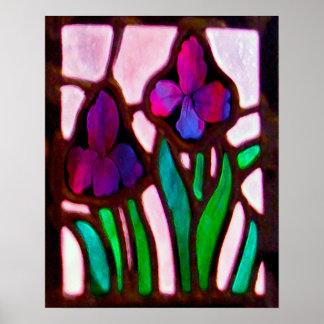 Tiffany Flowers print