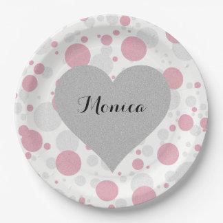 Tiffany Girl Polka Dot Party Paper Plates