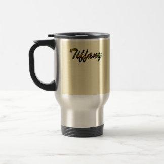 Tiffany Golden Tone Stainless Steel Travel Mug