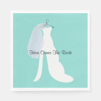 Tiffany Here Comes The Bride Party Napkins Paper Serviettes