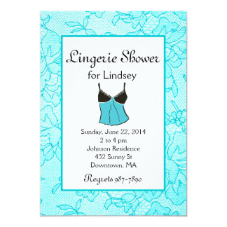 Tiffany Lacy Lingerie Bridal Shower Invites