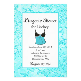 Tiffany Lacy Lingerie Bridal Shower Invites