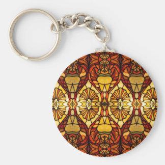 Tiffany Lamp Symmetry Key Ring