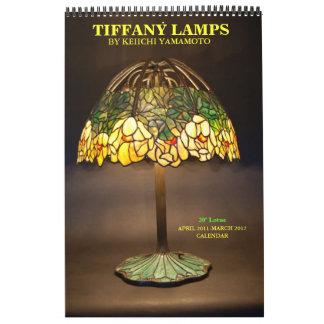 TIFFANY LAMPS WALL CALENDAR