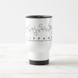 Tiffany peptide name mug