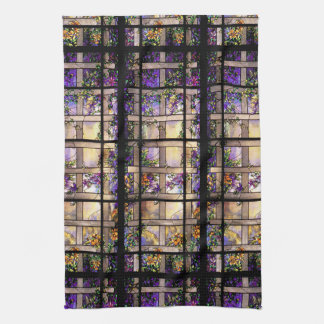 Tiffany Stained Glass Floral Kitchen Towel