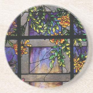 Tiffany Stained Glass Garden Lattice Coaster