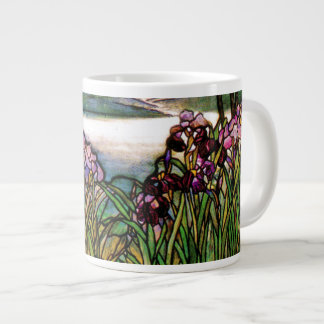 Tiffany Stained Glass Irises Jumbo Mug