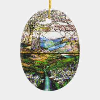 Tiffany Stained Glass Nature Ornament