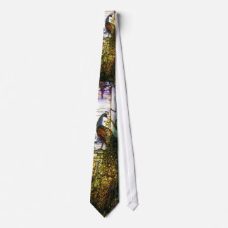 Tiffany Stained Glass Peacocks Tie