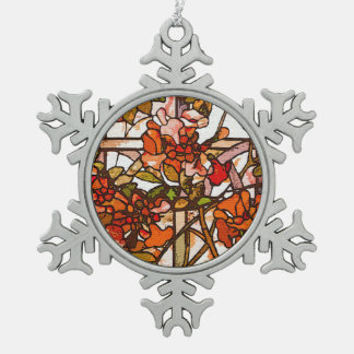 Tiffany Stained Glass Snowflake Ornament