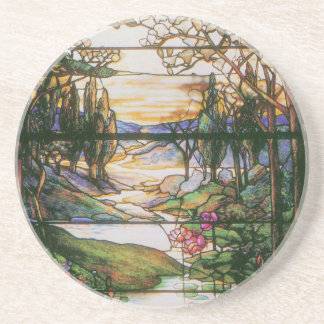 Tiffany Stained Glass Water Garden Coaster