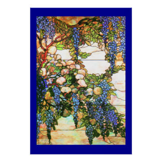 Tiffany Stained Glass Wisteria Print