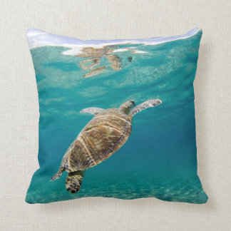 Tiffany, the Green Turtle Cushion