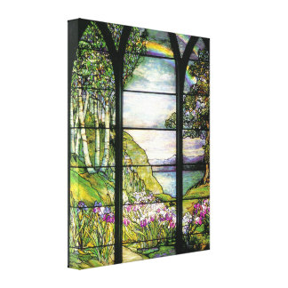 Tiffany Window Wrapped Canvas