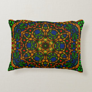 Tiffglow Mandala 1 Oblong Pillow
