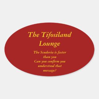 Tifosiland Lounge Gear Oval Sticker