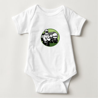 Tig Welder Tanker Truck Oval Baby Bodysuit