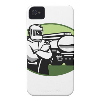 Tig Welder Tanker Truck Oval iPhone 4 Cover