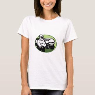 Tig Welder Tanker Truck Oval T-Shirt