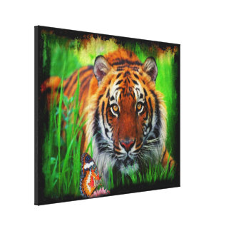 Tiger 1A Wrapped Canvas Gallery Wrapped Canvas