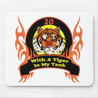 Tiger 20th Birthday Gifts Mousepad