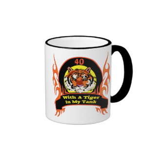 Tiger 40th Birthday Gifts Ringer Coffee Mug