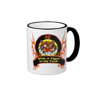 Tiger 40th Birthday Gifts Ringer Mug