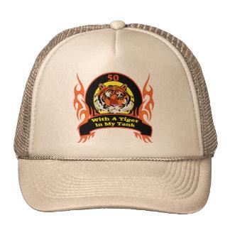 Tiger 50th Birthday Gifts Trucker Hat