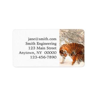 Tiger and cub - tiger address label