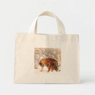 Tiger and cub - tiger mini tote bag