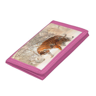Tiger and cub - tiger trifold wallet