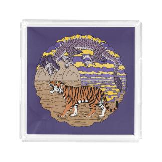 Tiger and Dragon Acrylic Tray