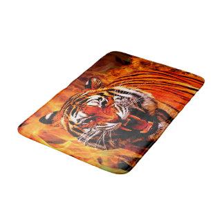 Tiger and Flame Bath Mat