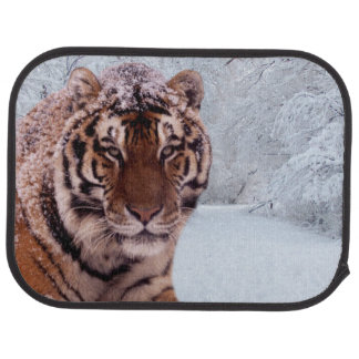 Tiger and Snow Car Mat
