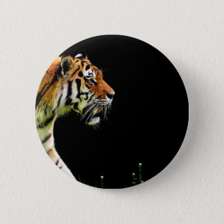 Tiger Approaching - Wild Animal Artwork 6 Cm Round Badge