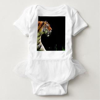 Tiger Approaching - Wild Animal Artwork Baby Bodysuit