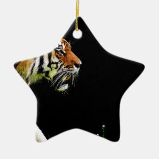 Tiger Approaching - Wild Animal Artwork Ceramic Ornament