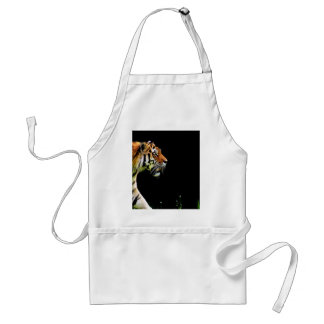 Tiger Approaching - Wild Animal Artwork Standard Apron