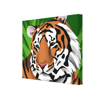 Tiger Art Stretched Canvas Print