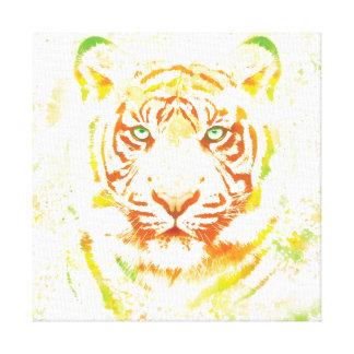 Tiger Art Paint Stretched Canvas Prints