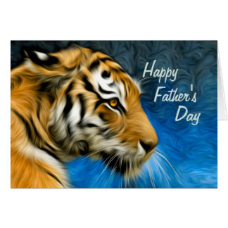 Tiger Art Painting Father's Day Card