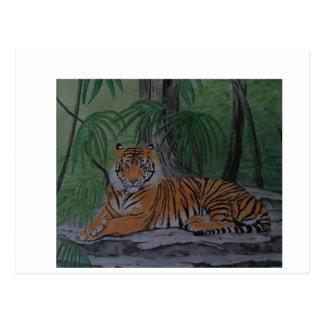 Tiger at Rest Postcard
