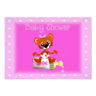 Tiger  Baby Shower Invitation