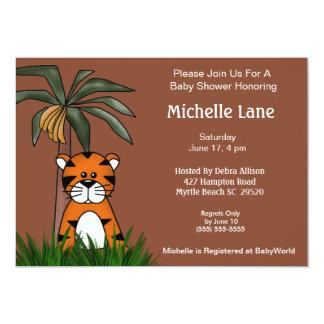 Tiger Baby  Shower Invitations
